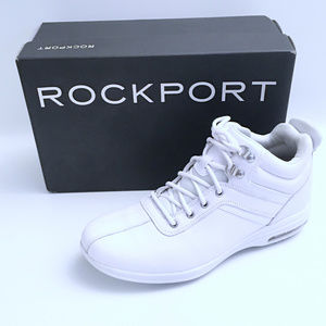 Rockport CR CTR Seam Boots Men's White SZ 8 M NEW